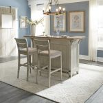 Walthourville 3 Pc Bar with 2 Upholstered Bar Stools