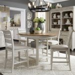 Walthourville 5 Pc Gathering Table, 4 Upholstered Counter Chairs