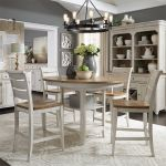 Walthourville 5 Pc Gathering Table, 4 Counter Chairs