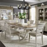 Walthourville 6 Pc Trestle Table, 4 Upholstered Side Chairs,Ben