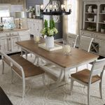 Walthourville 6 Pc Trestle Table, 4  Side Chairs,Bench