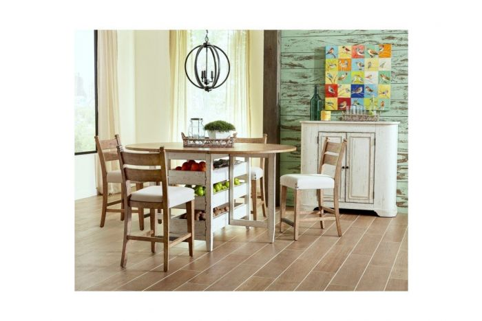 Barton Creek 5 Pc Counter Table with 4 Bar Stools