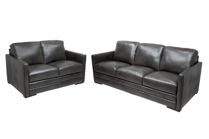 Copperas Cove Leather Sofa and Loveseat