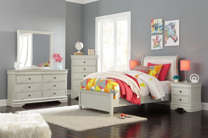 Frisco 6 Pc Twin Upholstered Bedroom Set