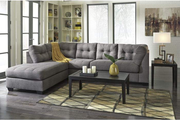 Haslet Charcoal 2 Pc Sectional
