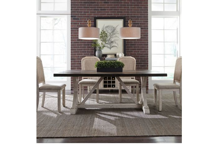 Willowrun 5 Pc Trestle Table Set