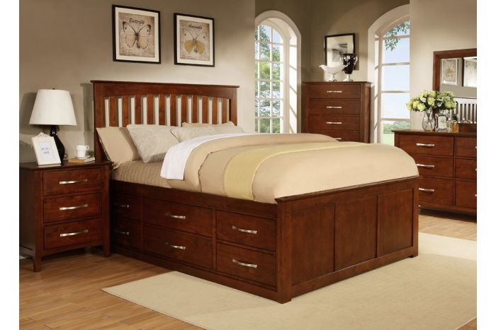 Contempo II King Pedestal Storage Bed
