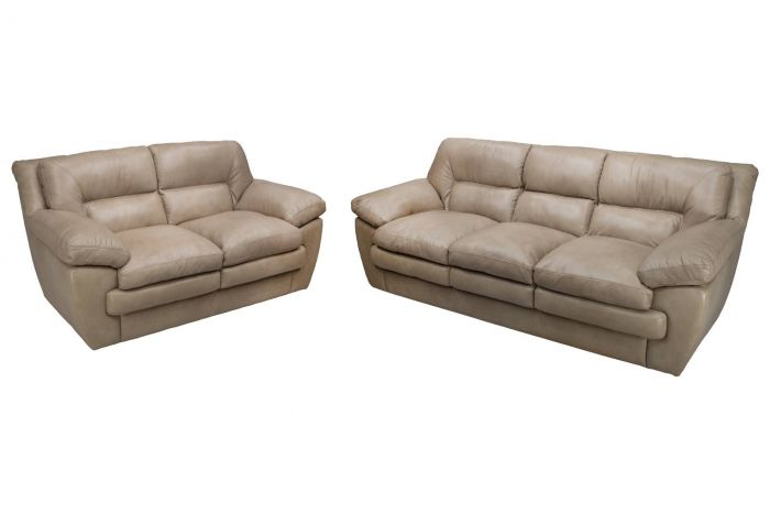 Kingston Leather Sofa and Loveseat