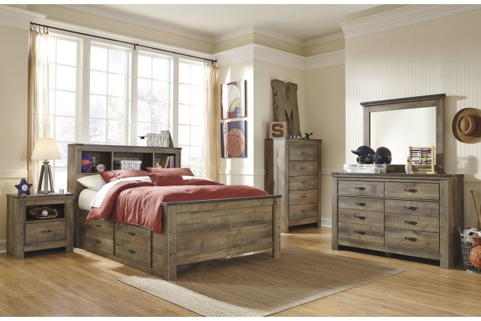 Trinell 6 Pc Full Captains Bedroom
