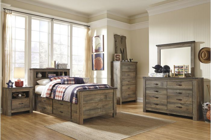 Trinell 6 Pc Twin Captains Bedroom
