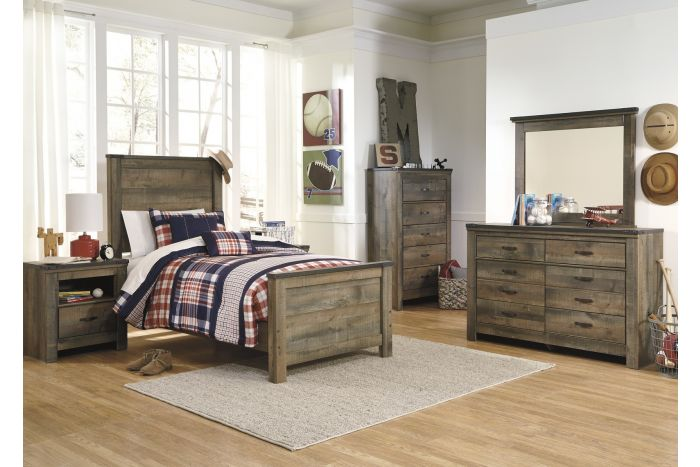 Trinell 6 Pc Twin Panel Bedroom