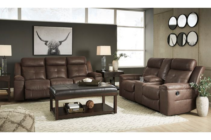 Sanger Recliner Sofa and Loveseat