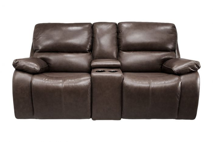 Waynesboro Leather Power Reclining Loveseat with Adjustable Headrests